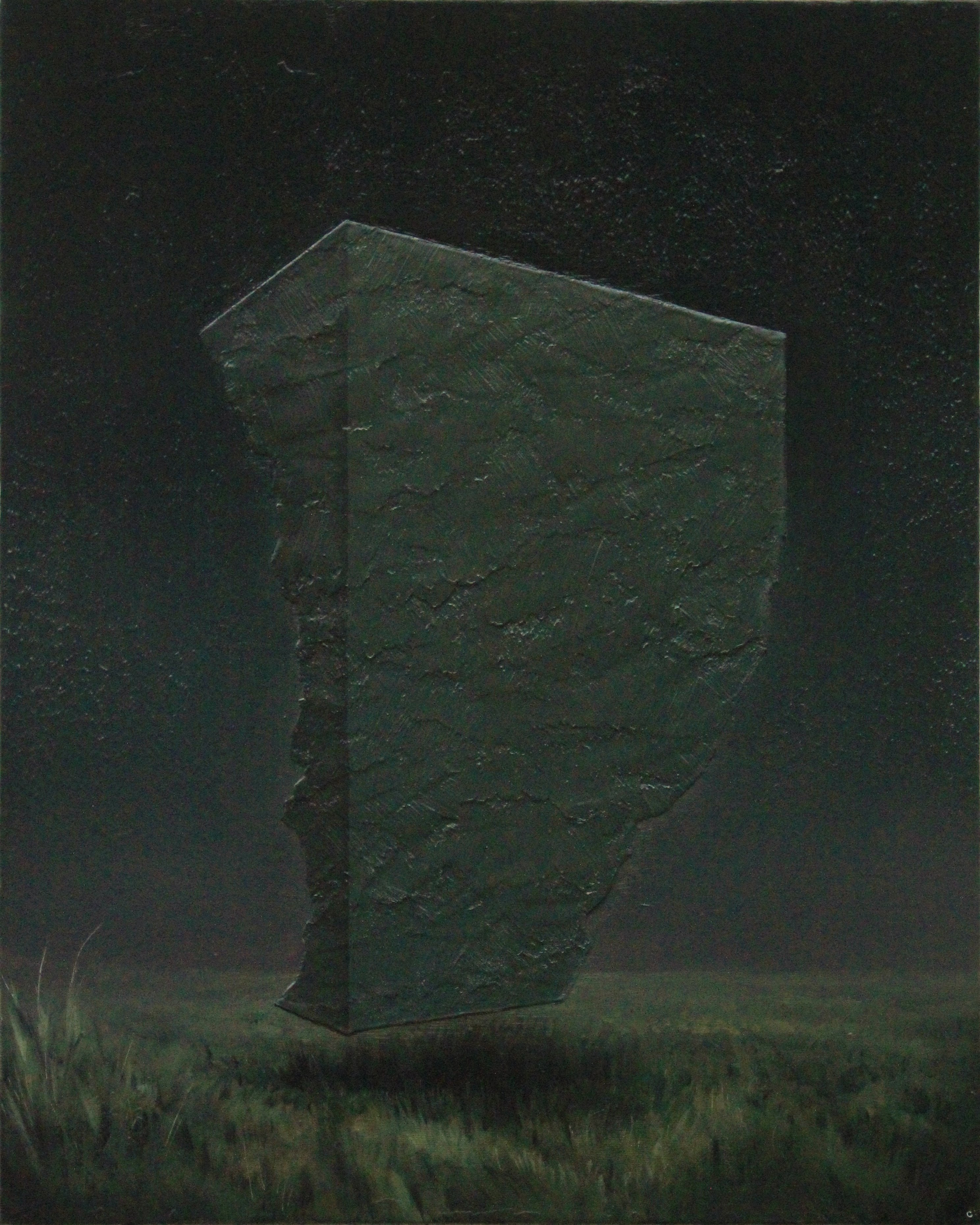 'Nocturnal Landscape with Monolithic Sentiment'